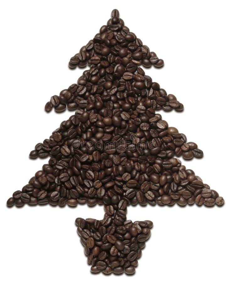Kaffee-Weihnachtsbaum stockfotos