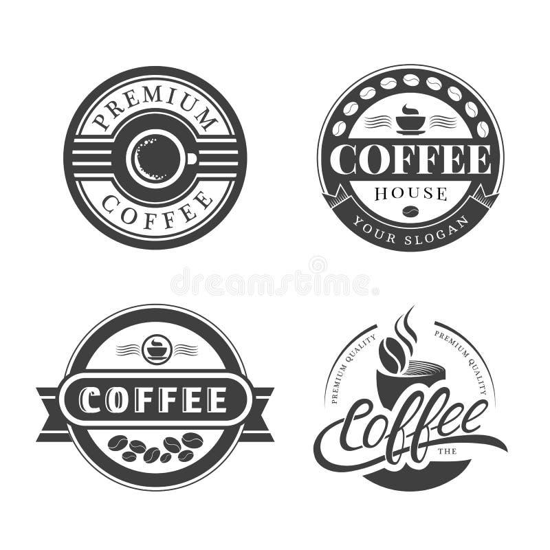 Kaffee-Weinlese-Logo lizenzfreie abbildung