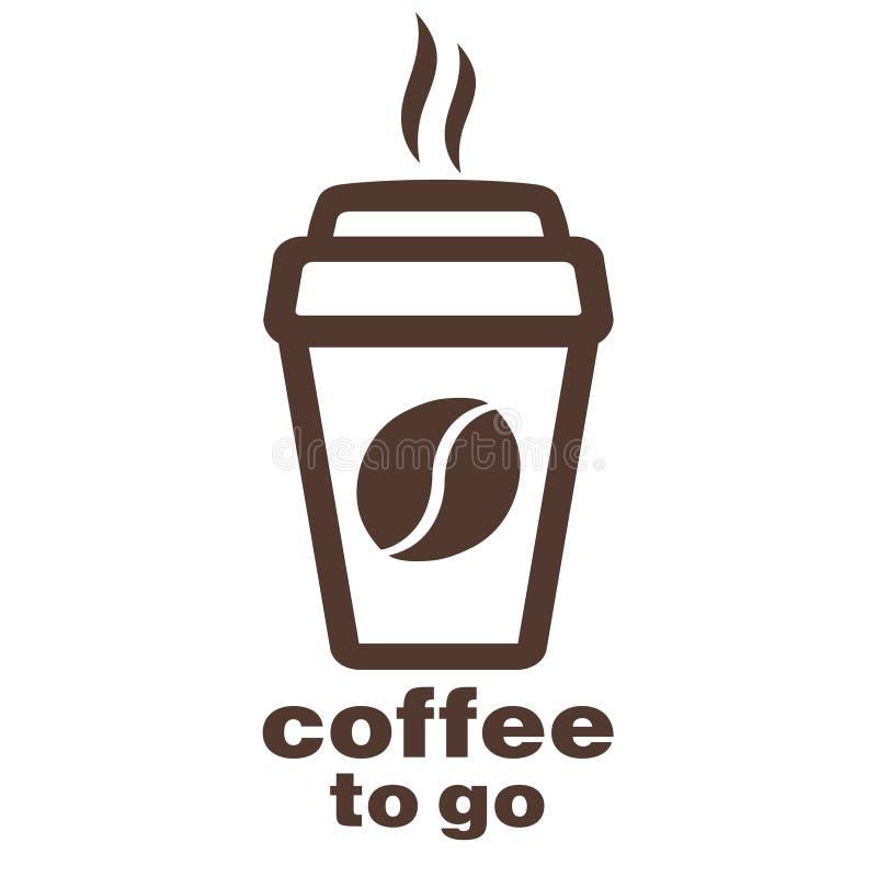 Kaffee Zum Mitnehmen, Aufkleber Im Fenster, Vektorlogo, Netzikone ...