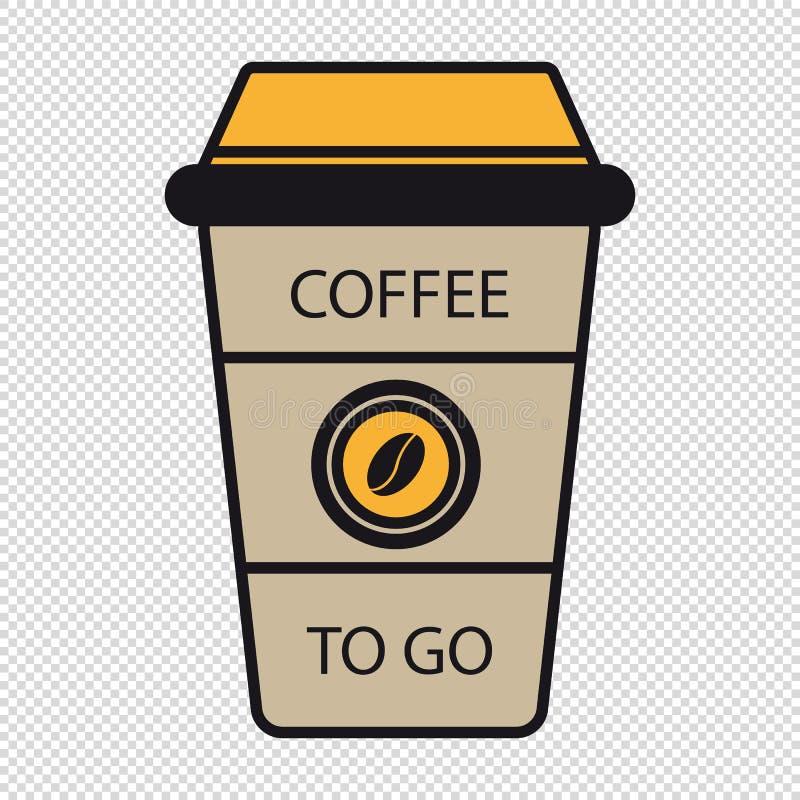 Kaffee zum Mitnehmen-Schale - Editable Vektor-Illustration - transparentes Ba stock abbildung