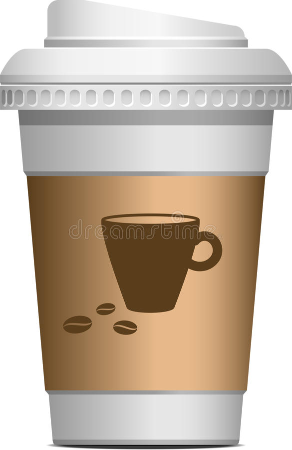 Kaffee zum zu gehen vektor abbildung