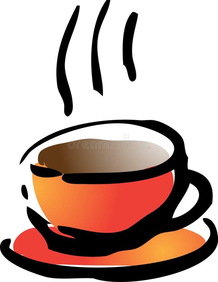 Kaffeeabbildung stock abbildung