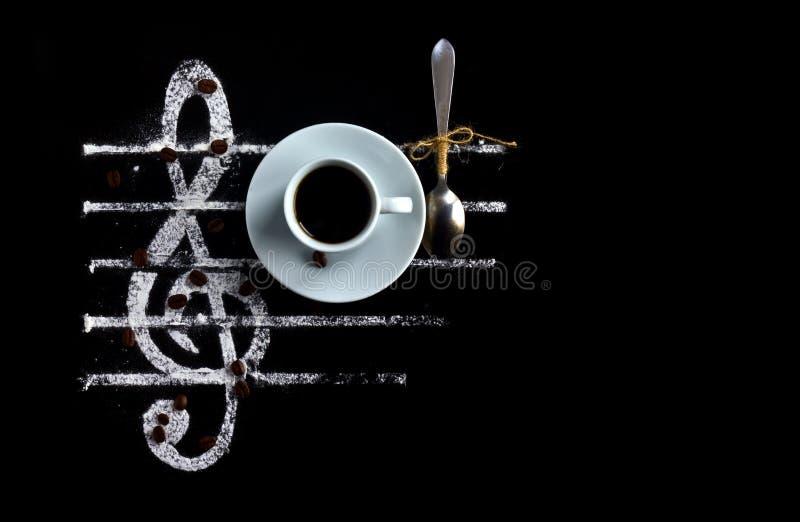 Kaffeearomamusik lizenzfreies stockbild