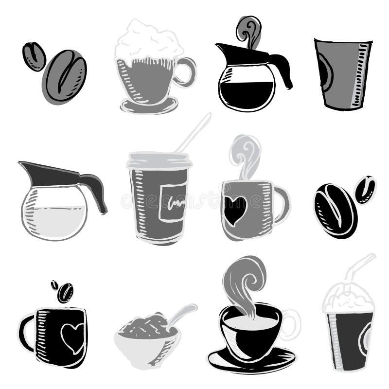 Kaffeeauslegungelemente vektor abbildung