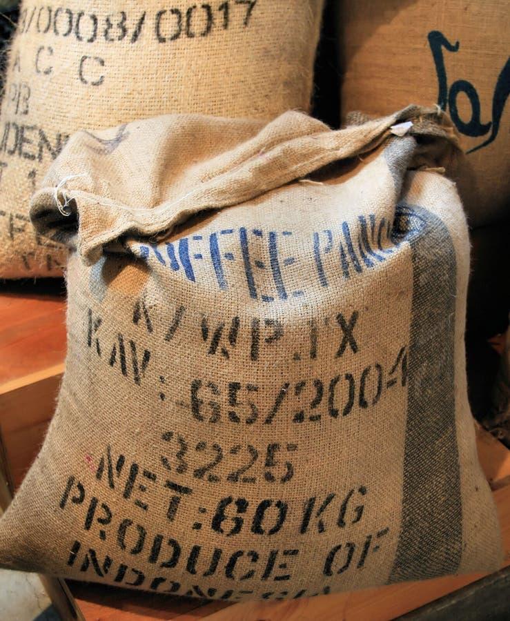Kaffeebeutel stockfotografie