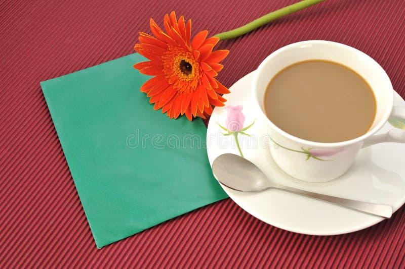 Download Kaffeeblumenumschlag stockbild. Bild von leerzeichen, hintergrund - 9088465