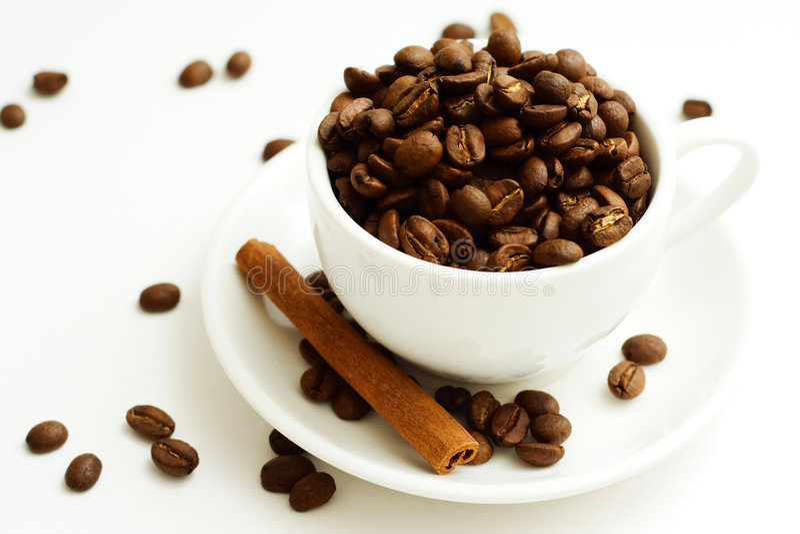 Kaffeebohne. stockbild
