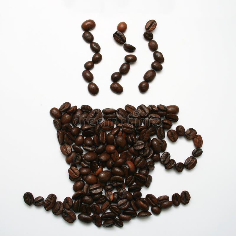 Kaffeebohne-Cup stockbilder