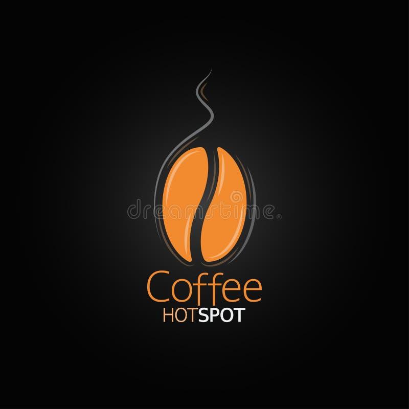 Kaffeebohne-Designmenühintergrund stock abbildung