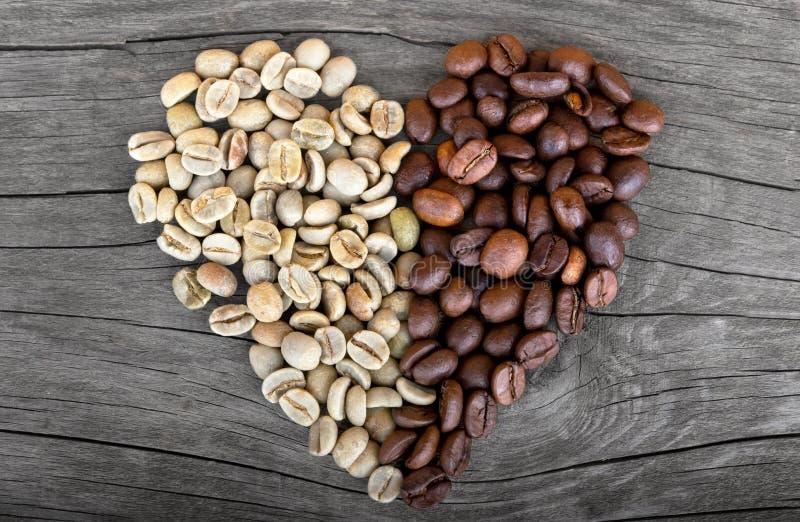 Kaffeebohne-Herdform lizenzfreie stockfotos