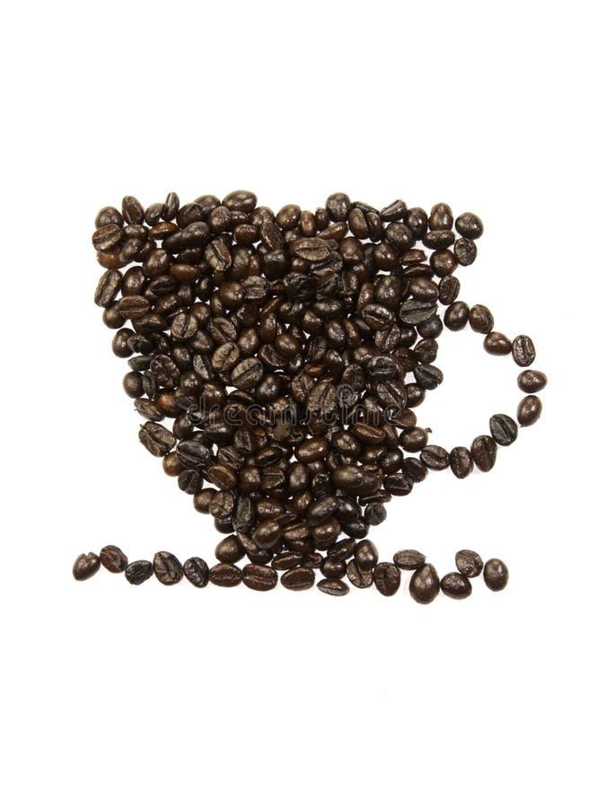 Kaffeebohne-Schalenmuster lizenzfreie stockfotografie
