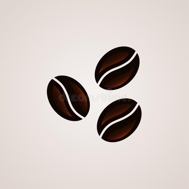 Kaffeebohne-Zeichenlogoschablone stock abbildung