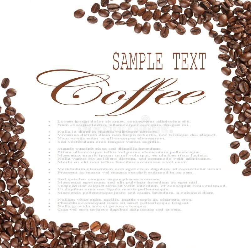 Kaffeebohnebeispieltext lizenzfreies stockfoto