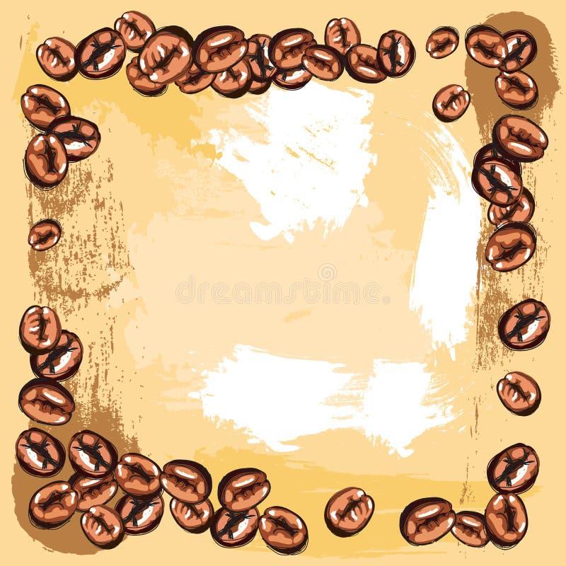 kaffeebohnefeld vektor abbildung illustration von energie