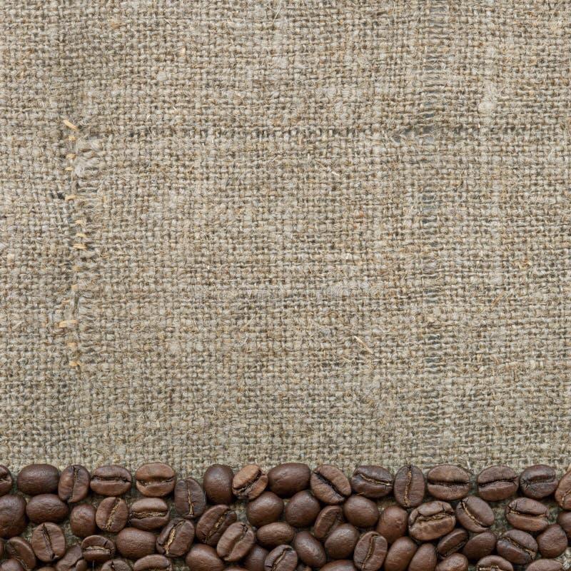 Kaffeebohnen auf dem Rausschmiß stockfotos