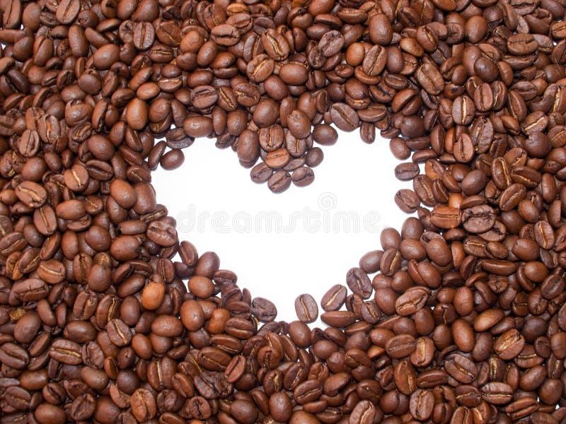 Kaffeebohnen mit Innerem. stockbild