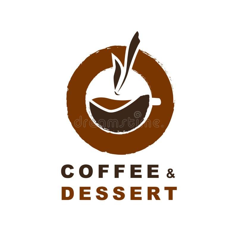 Kaffeebrandingfirmenzeichen Kaffee und Nachtisch lizenzfreie abbildung