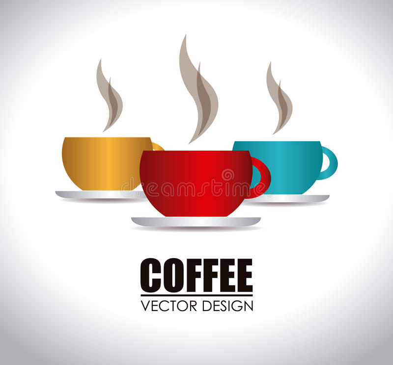 Kaffeedesign lizenzfreie abbildung