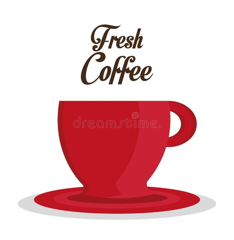 Kaffeedesign stock abbildung