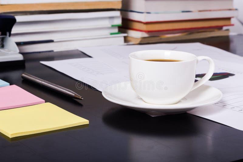 Kaffeedesktop stockfotografie