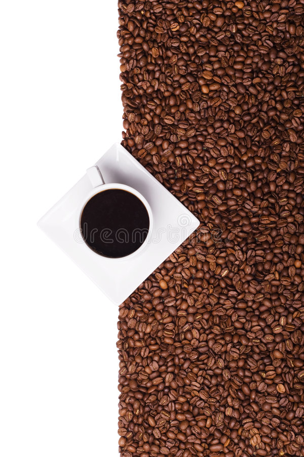 Kaffeefahne stockfoto