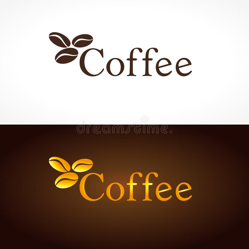 Kaffeefirmenlogo vektor abbildung