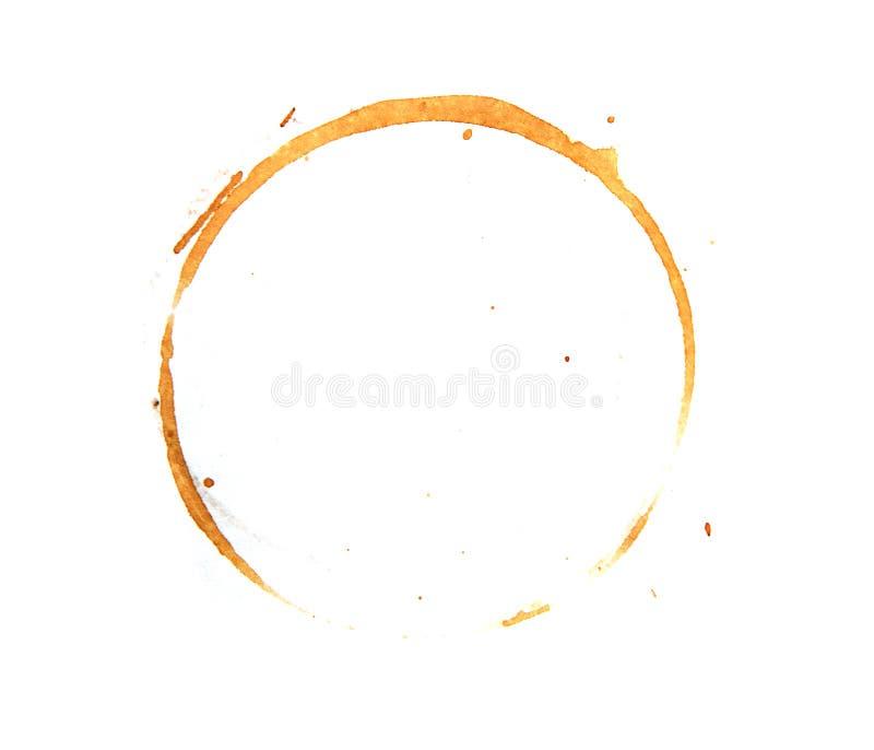 Kaffeefleck auf einem weißen Hintergrund lizenzfreies stockbild