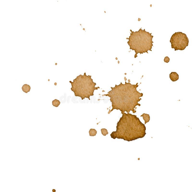Kaffeefleck lokalisiert lizenzfreie stockfotos