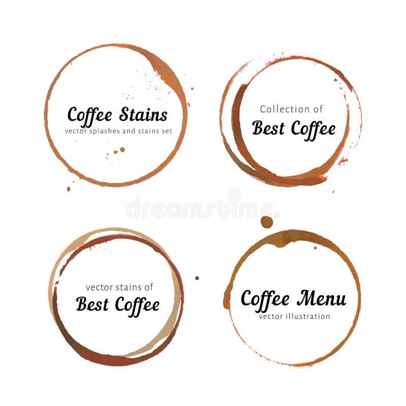 Kaffeefleckkreise für Logo vektor abbildung