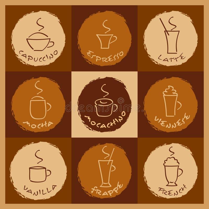 Kaffeegetränke vektor abbildung. Illustration von espresso - 7644362