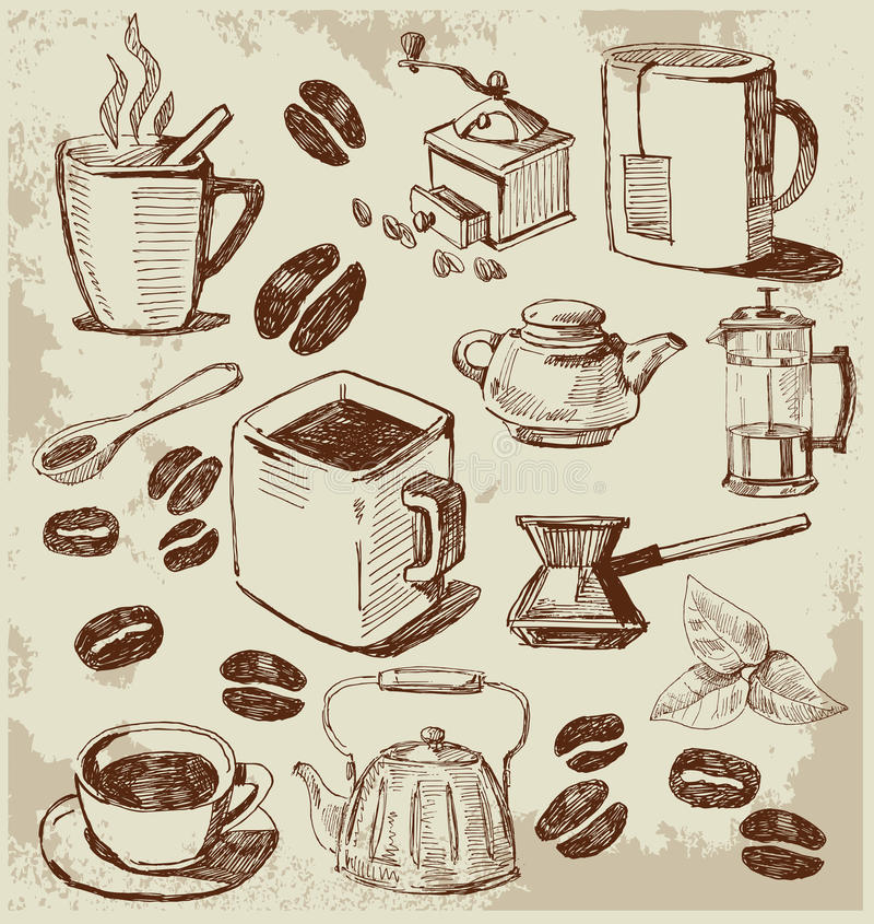 Kaffeehintergrund lizenzfreie abbildung