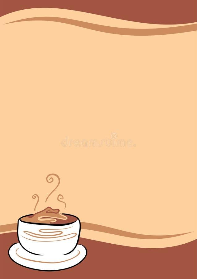 Download Kaffeehintergrund vektor abbildung. Illustration von sahne - 26373891