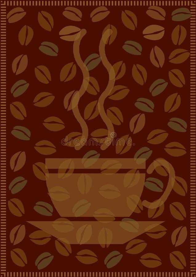 Kaffeehintergrund stock abbildung
