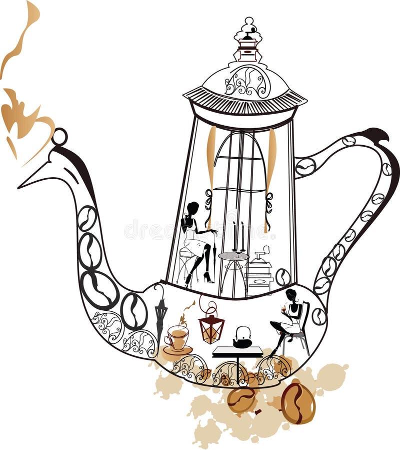 Kaffeekanne vektor abbildung