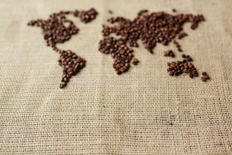 Kaffeekarte stockfotografie