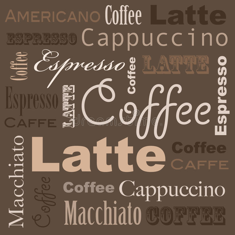 Kaffeekunst stock abbildung