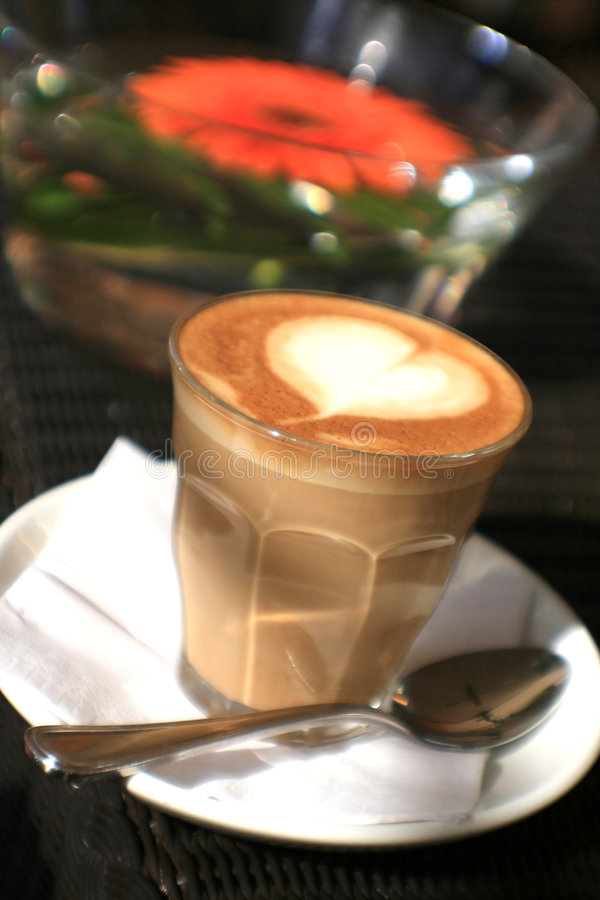 Kaffeeliebe lizenzfreie stockbilder