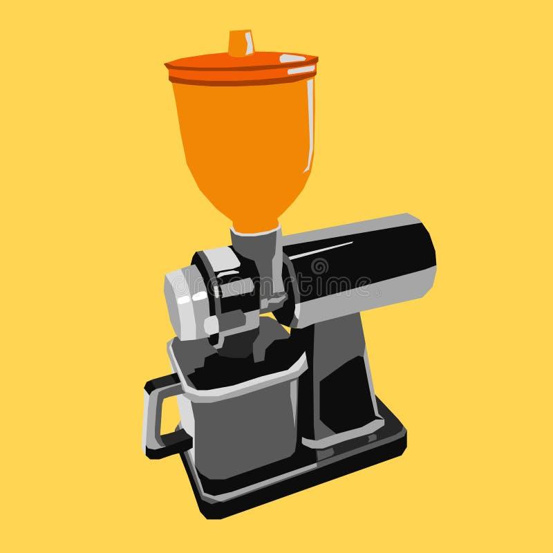 Kaffeemühle Logo Icon Flat lizenzfreie abbildung