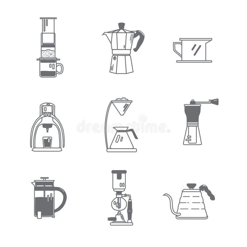 Kaffeemaschine-Werkzeuge stockbilder