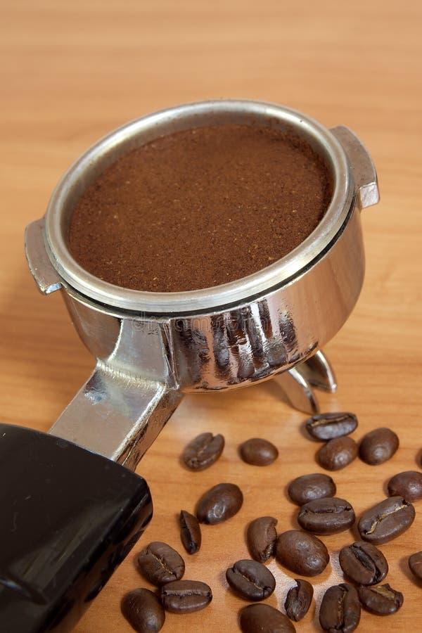 Kaffeemaschinengruppe. stockfoto