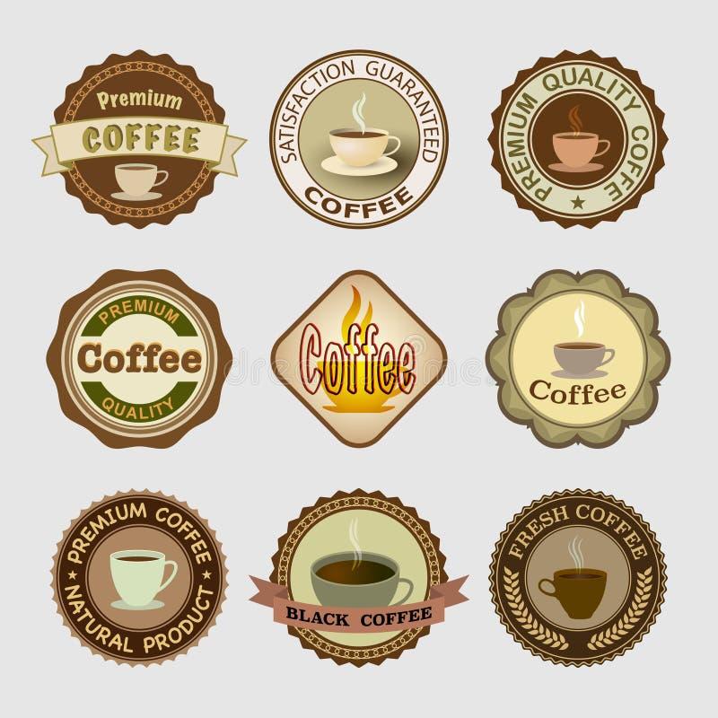 Kaffeemblem royaltyfri foto