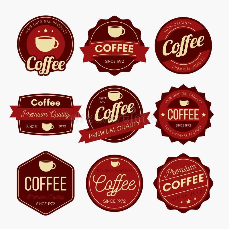 Kaffeemblemdesign royaltyfri illustrationer