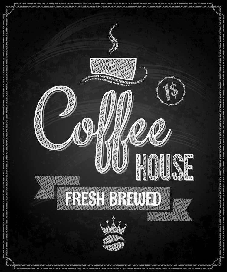 Kaffeemenüdesign-Tafelhintergrund lizenzfreie abbildung