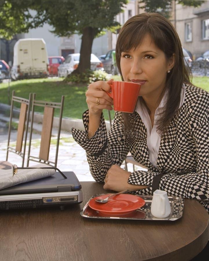 Kaffeepause stockbild