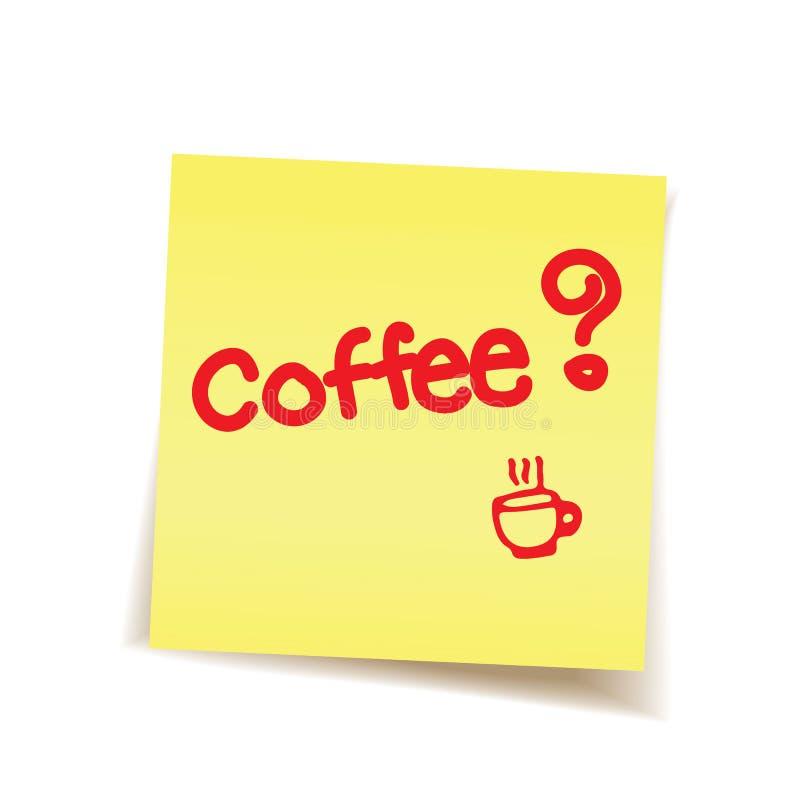 Kaffeepause auf Post-It lizenzfreies stockfoto