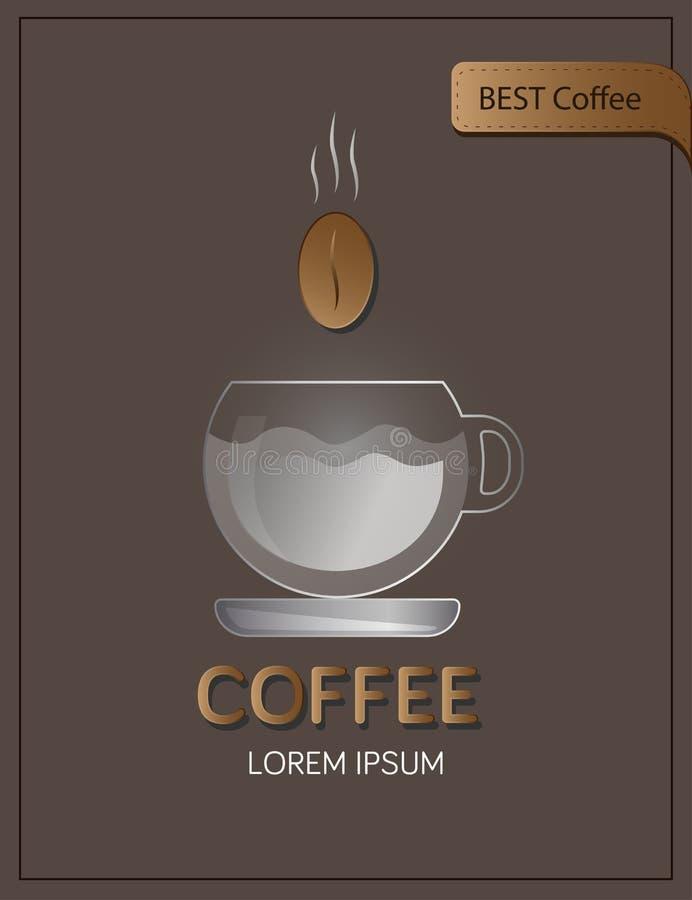Kaffeeplakat transparent stock abbildung