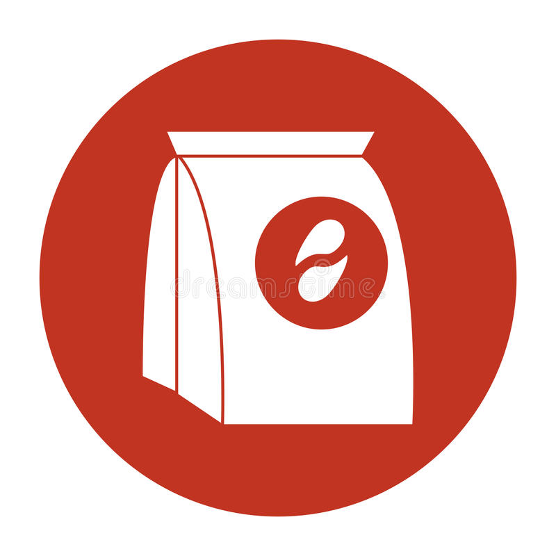 Kaffeesatzpapier-Bildschatten stock abbildung
