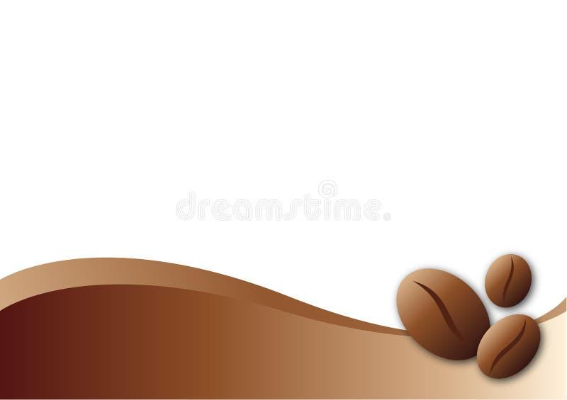 Kaffeeschablonenhintergrund stock abbildung