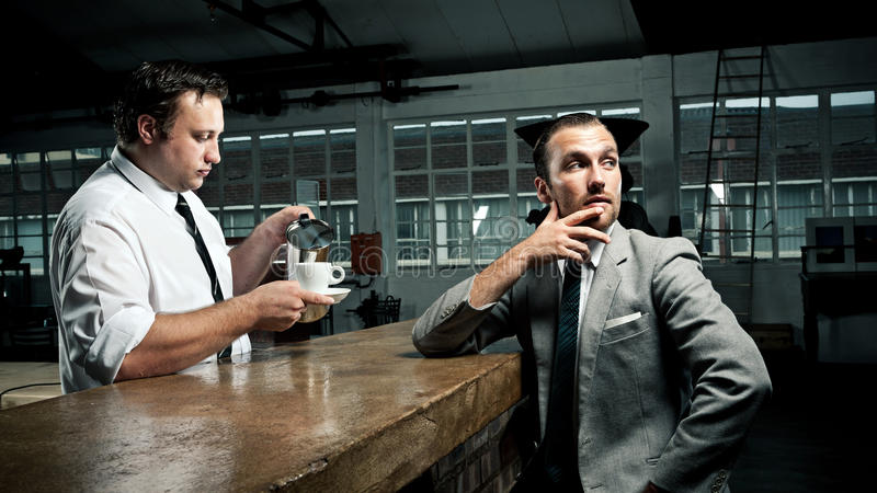 Kaffeeservice-Weinleseart stockfotos