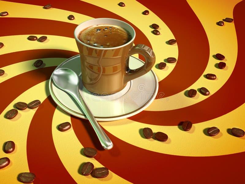 kaffeespresso vektor illustrationer